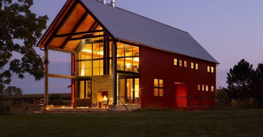 building a barndominium with glass exterior would be tough on your own