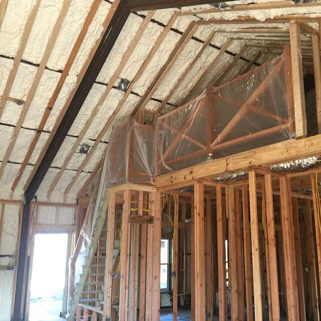 barndominium energy efficient spray foam insulation