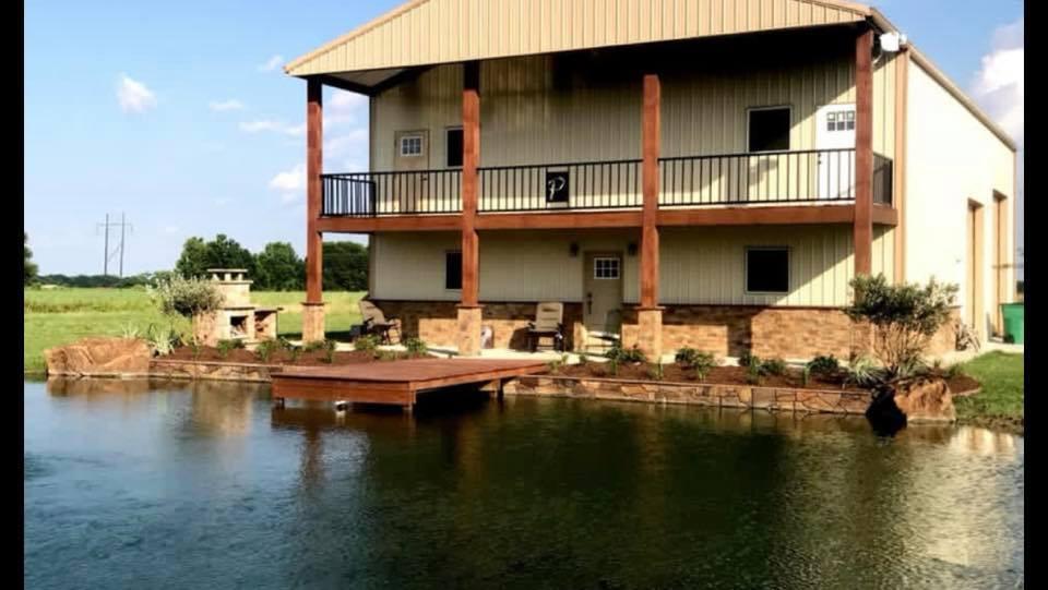 barndominium on a lake