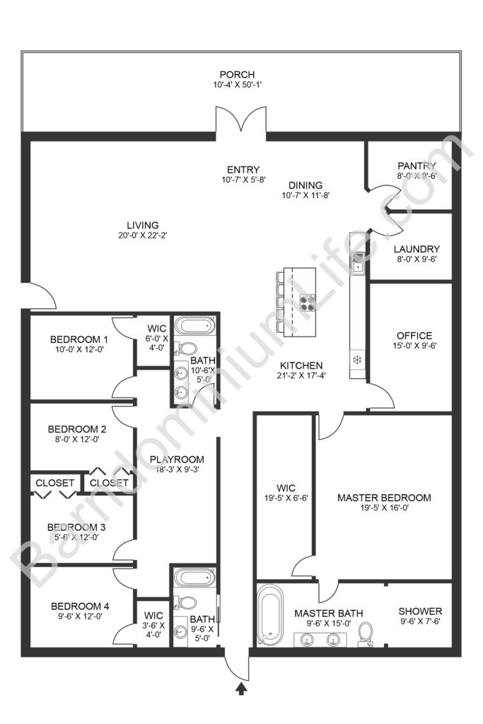 5 bedroom barndominium floor plans with walk in pantry