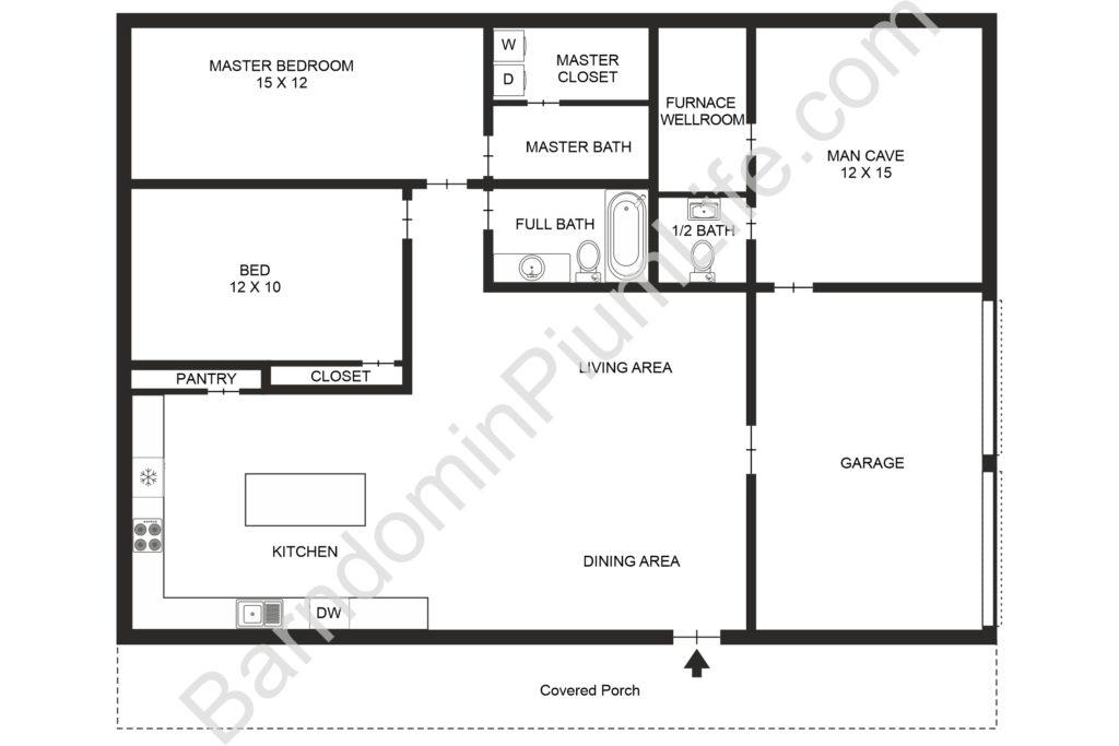 southern missouri barndominium floor plan