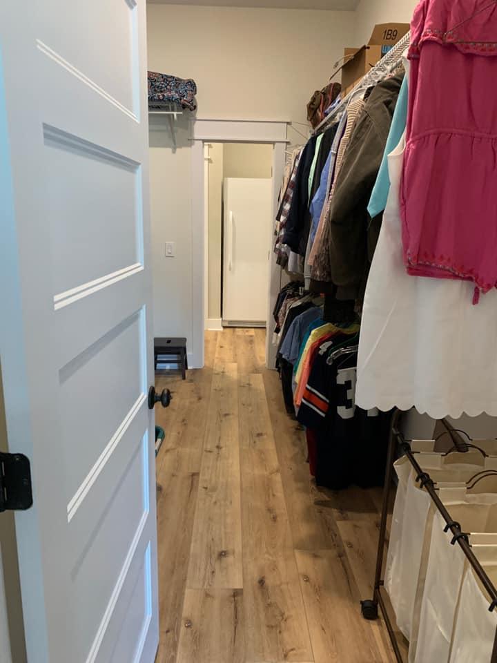Hines Family Barndominium Master Closet