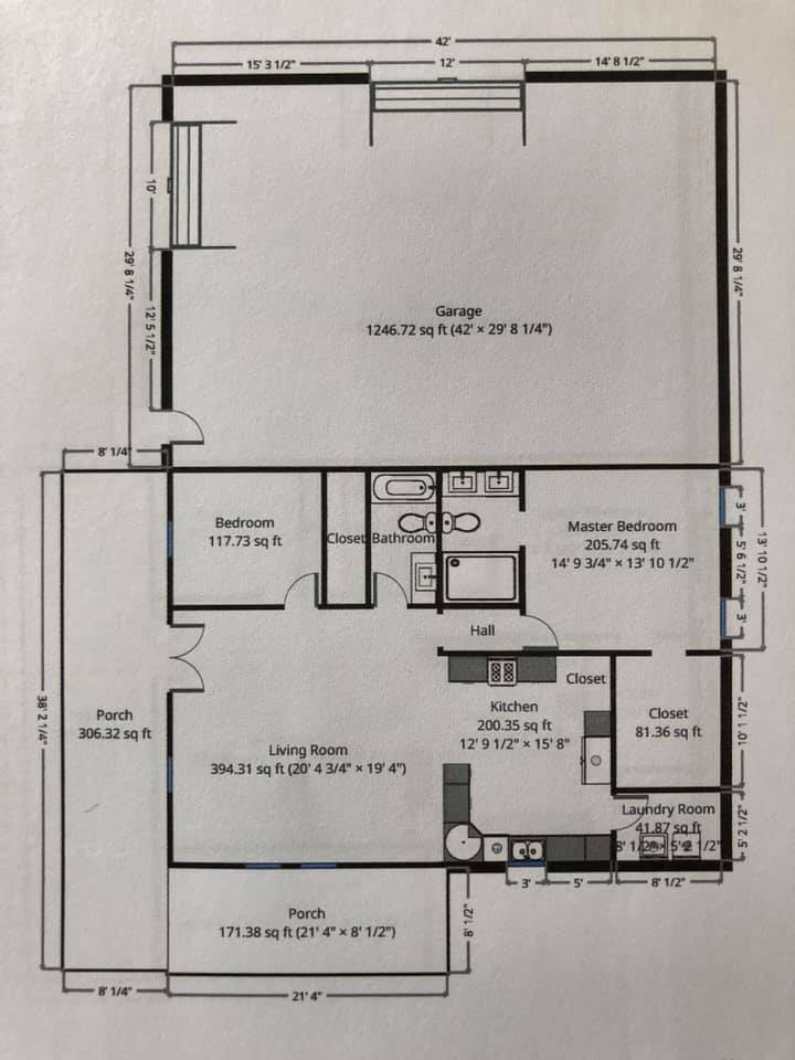 Glen Rose Texas Barndominium floor plan