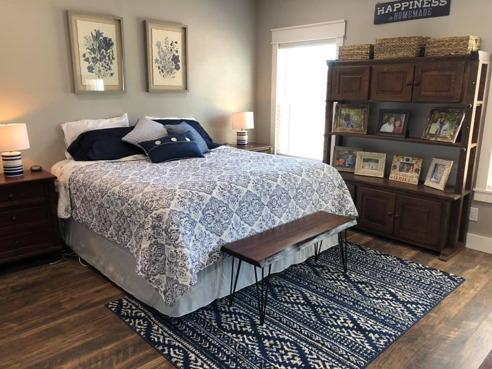 Glen Rose Texas Barndominium master bedroom