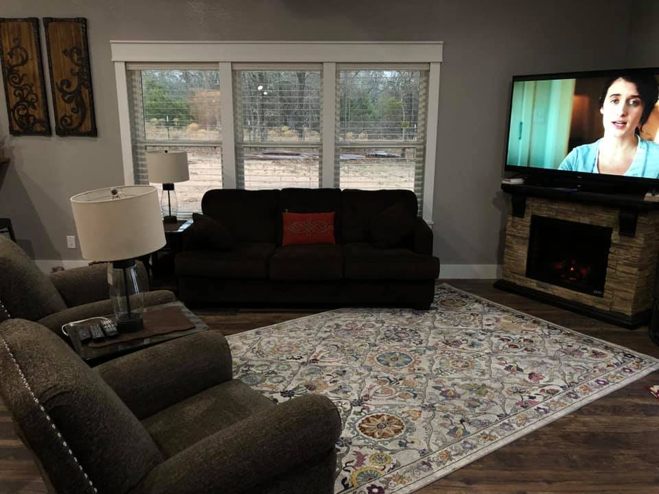 Glen Rose Texas Barndominium living room