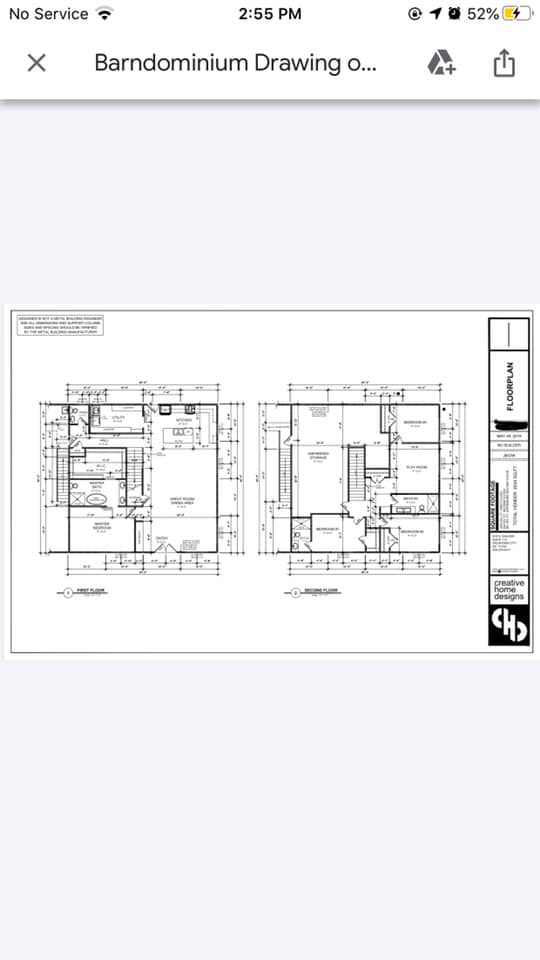 Black and White Oklahoma Barndominium floor plan