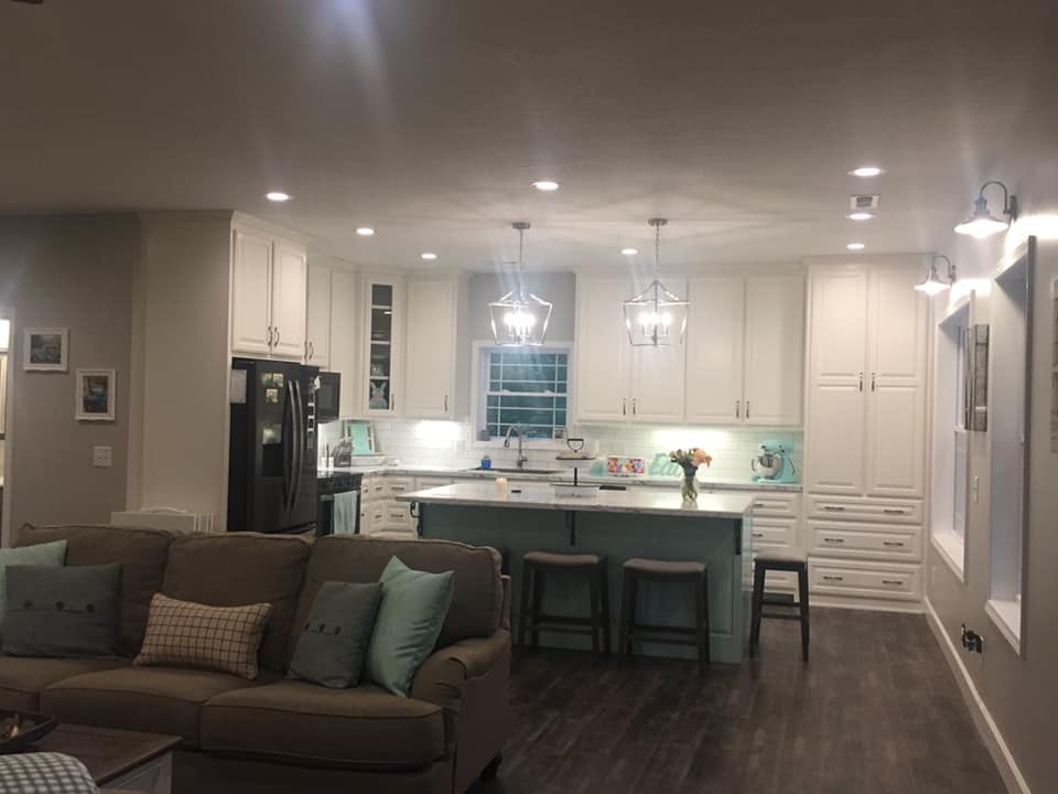 Tennessee Barndominium kitchen view