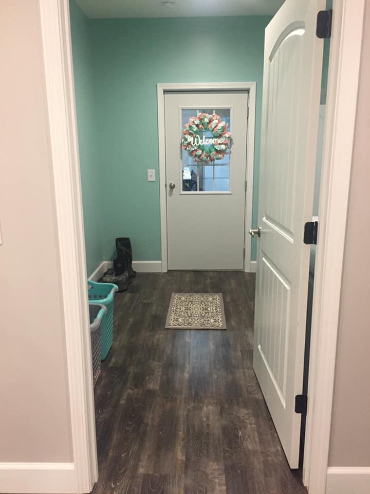 Tennessee Barndominium laundry room door to garage