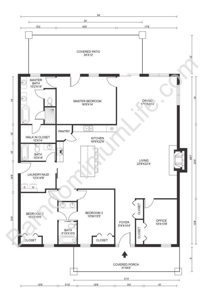 texas barndominium floor plans with covered porch