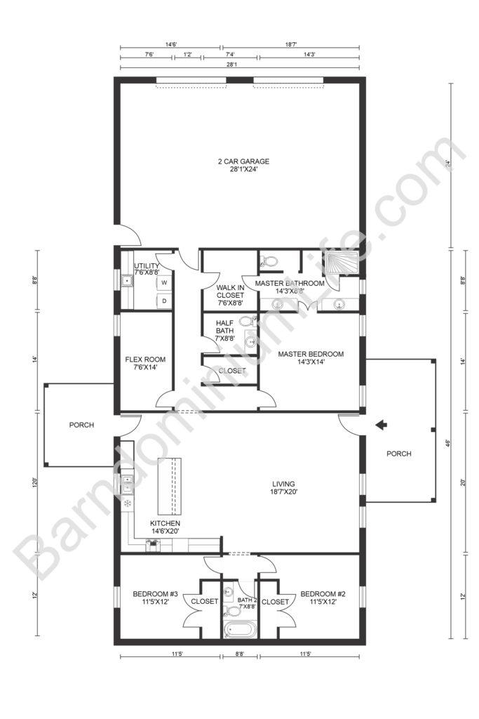Texas Barndominium Floor Plans The Top 8 Anywhere