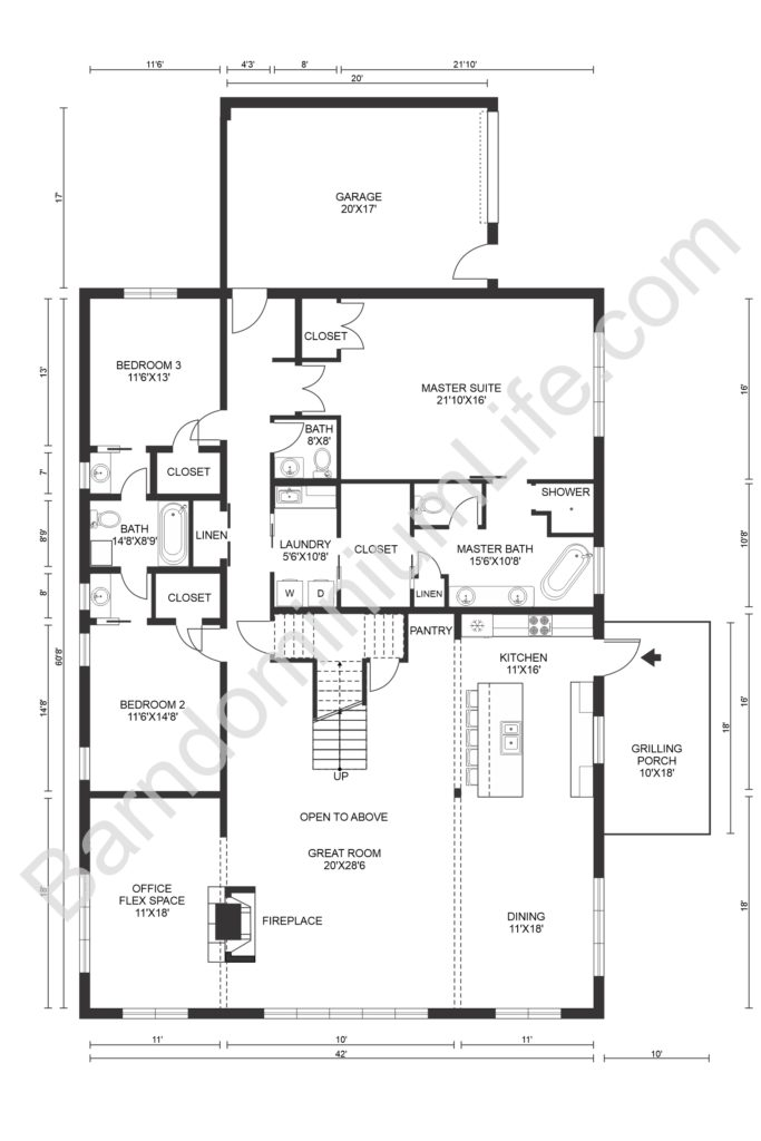 texas barndominium floor plans with 2nd bedroom