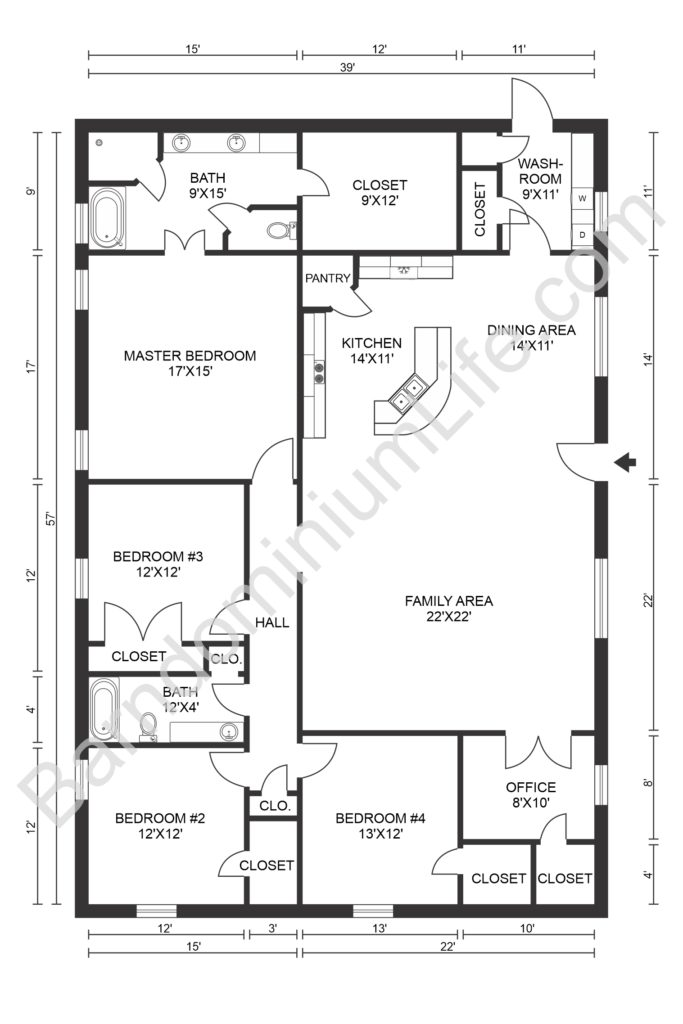 texas barndominium floor plan