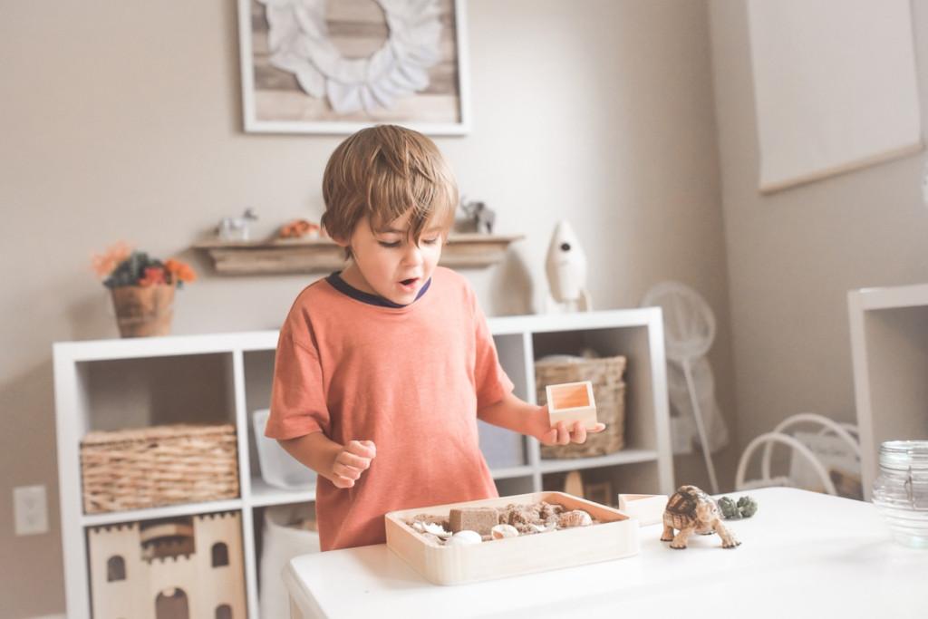 kid at playroom in barndominium