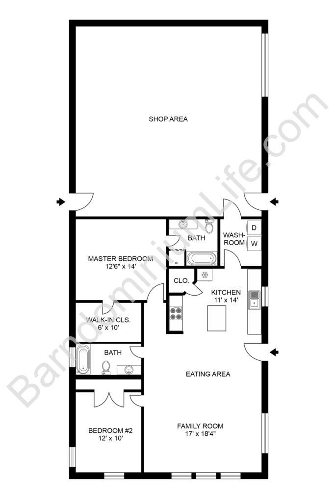 top 20 barndominium floor plans