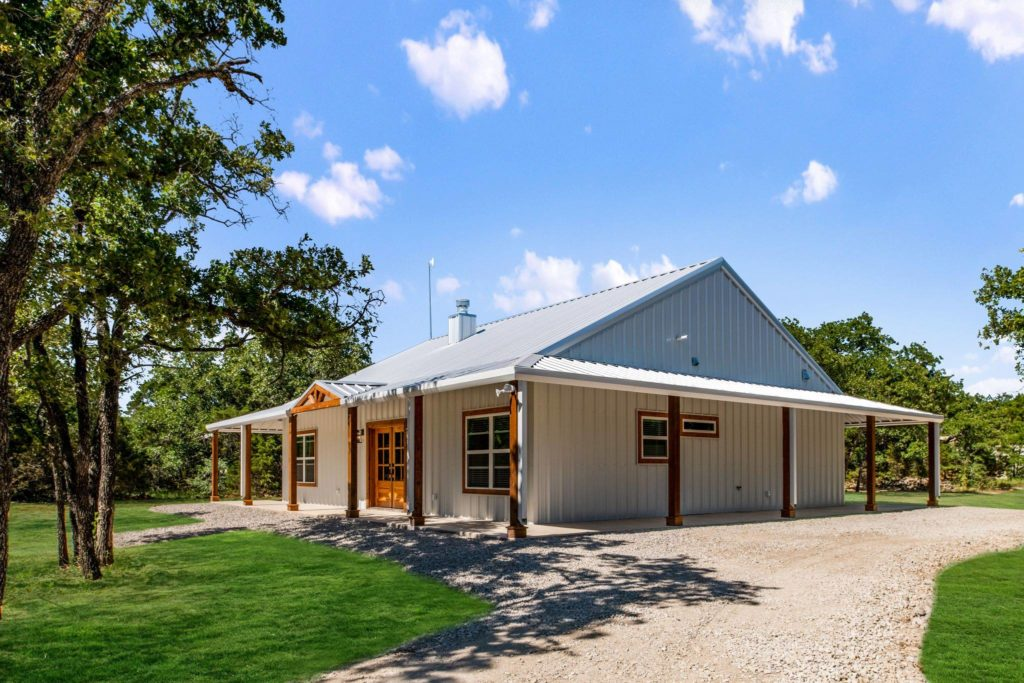 Mineral Wells Barndominium right side exterior angle
