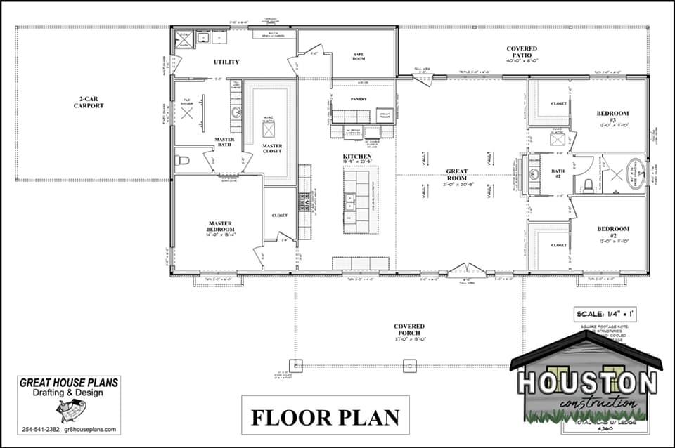 Rosebud Barndominium Floor Plan