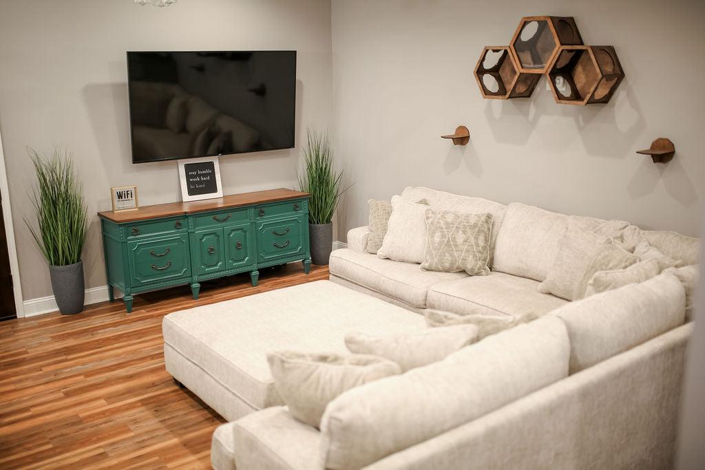 Athens Georgia Barndominium living room
