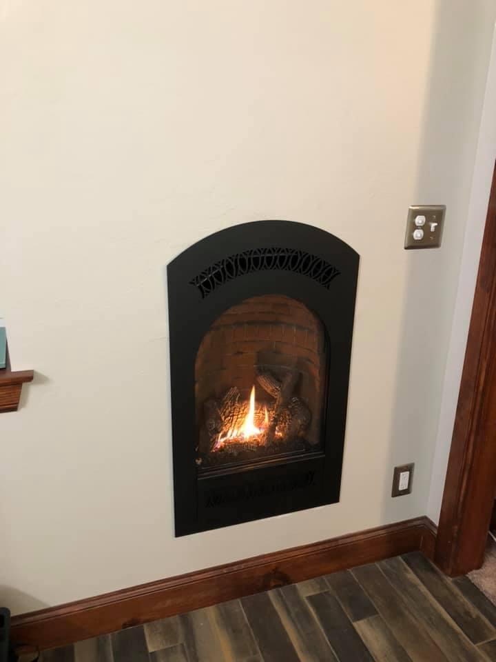 Oklahoma City Barndominium fireplace