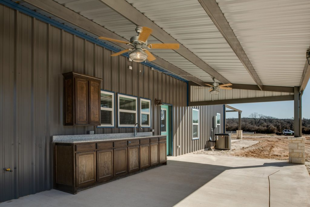 Weatherford Texas Barndominium back