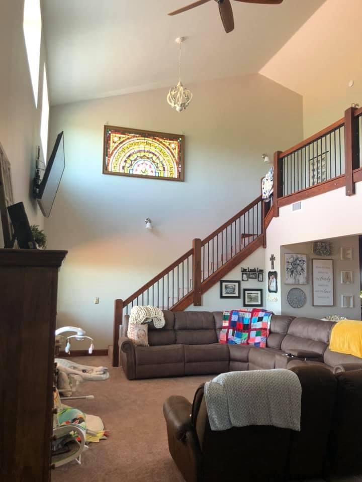 Oklahoma City Barndominium staircase