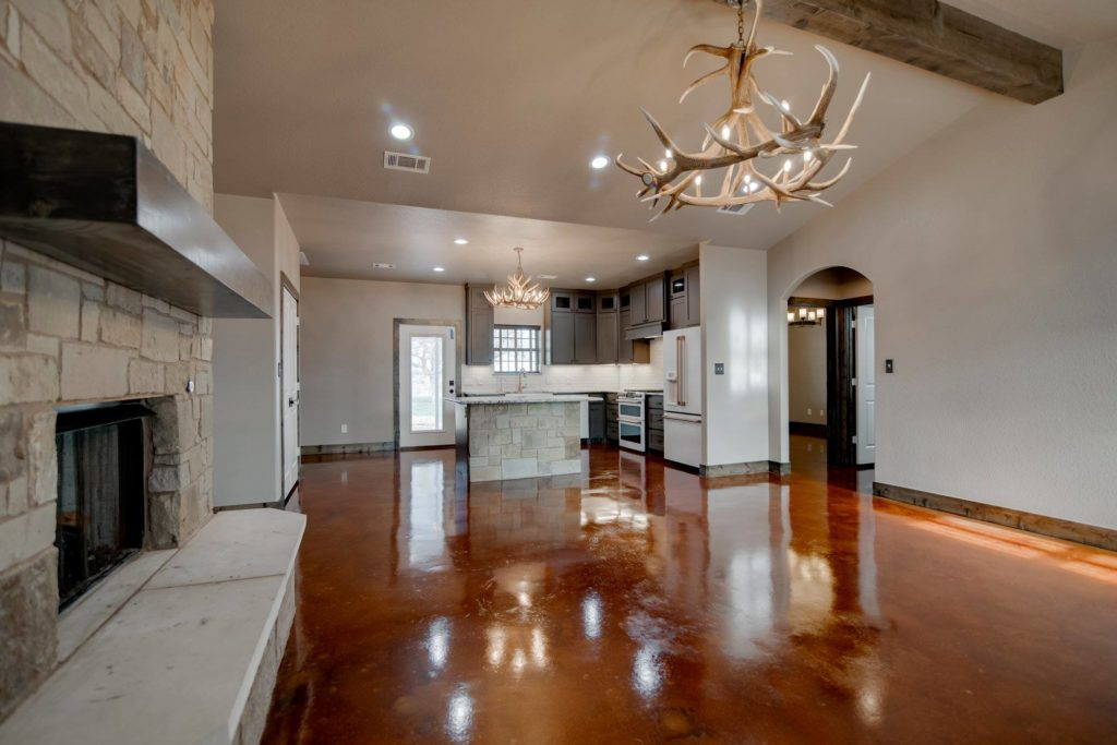 Open Concept View of Kitchen