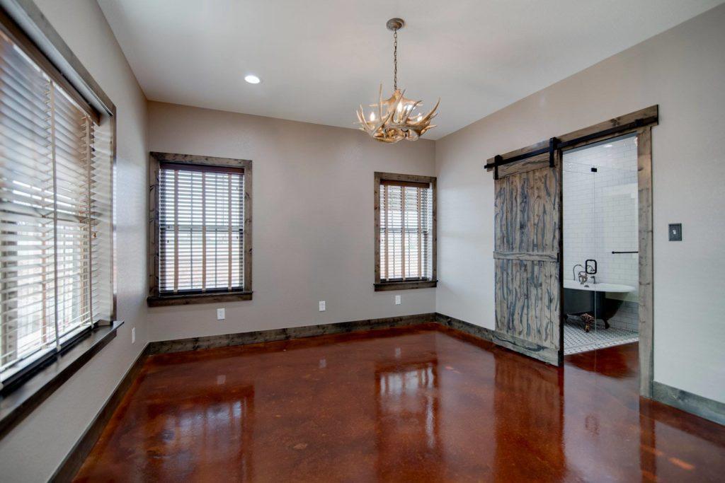 Alvord Texas Red Barndominium Master Bedroom