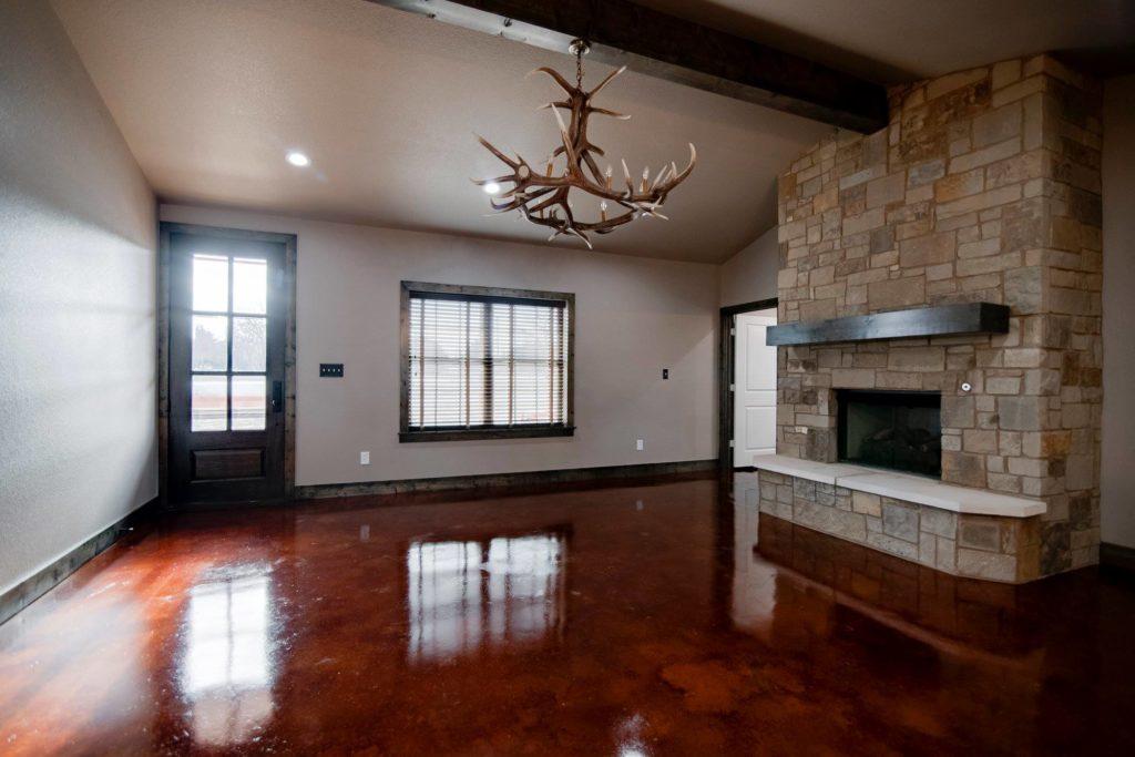 Alvord Texas Red Barndominium Open Concept