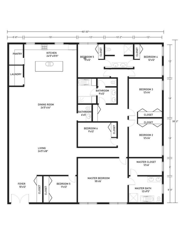 6 Bedroom Barndominium Floor Plans The 9 Best Available