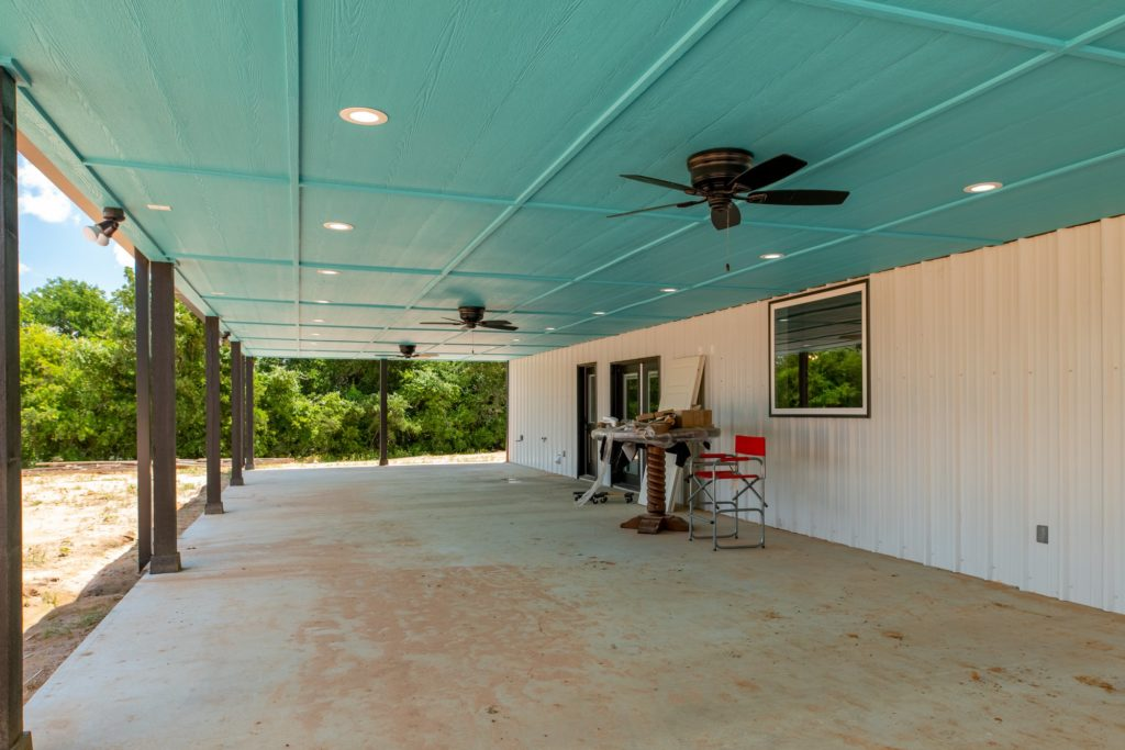 Springtown Texas Barndominium porch