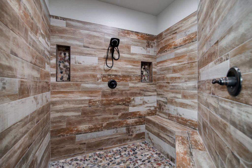 Boyd Texas Barndominium spa shower