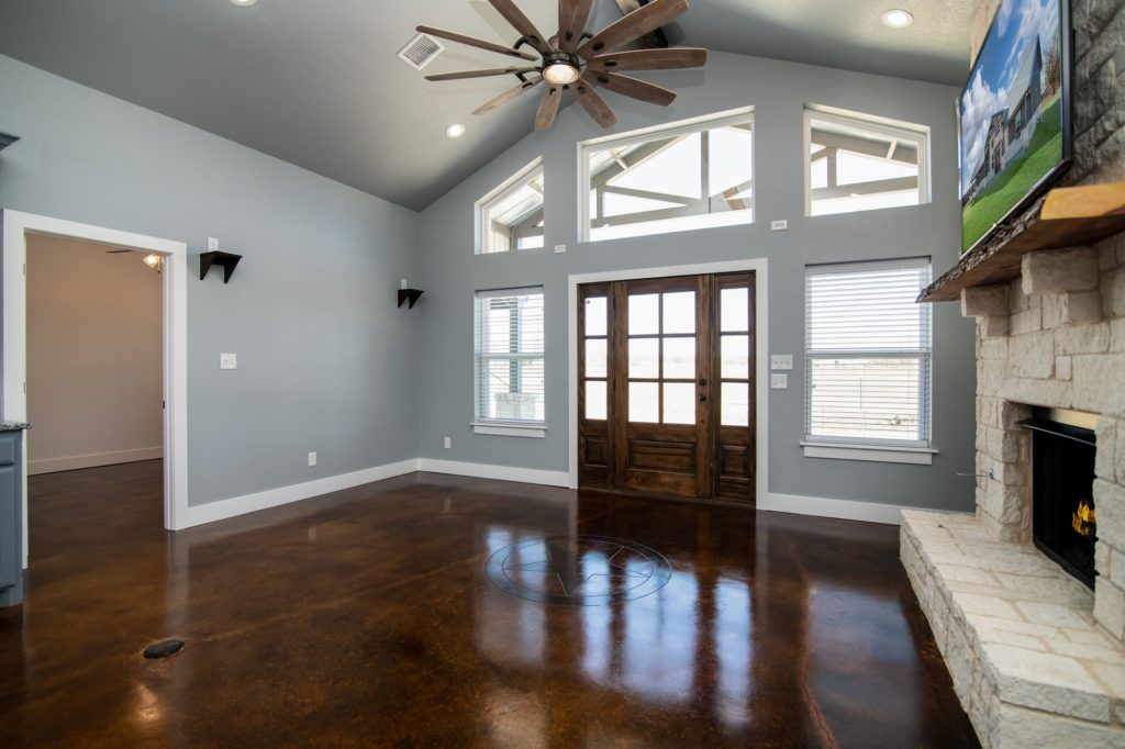 Butler Texas Barndominium living room