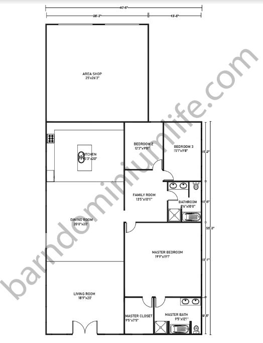 Barndominium-Floor-Plans-With-Shop-Loft