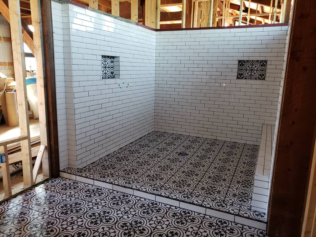 Guest bathroom tile