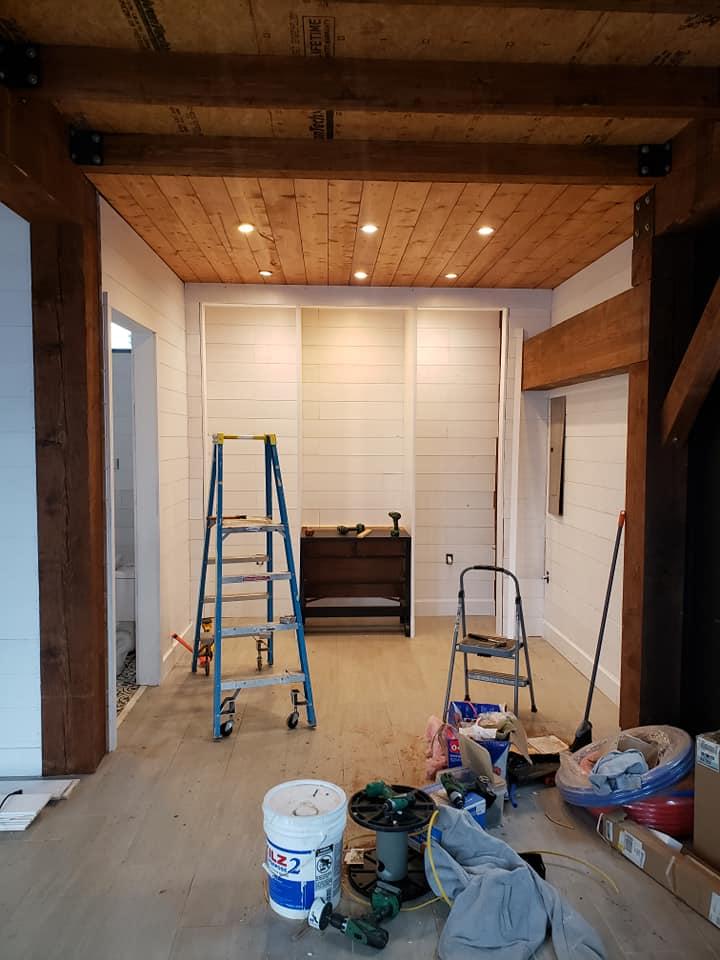 Master closet construction