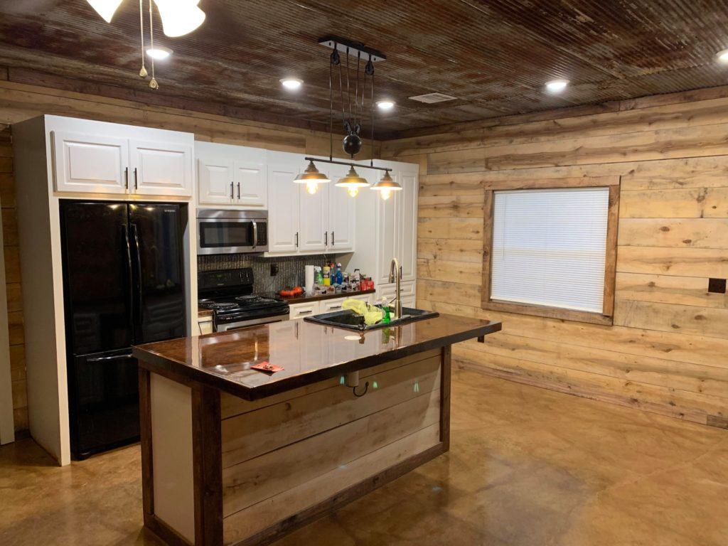 Northern Louisiana Barndominium kitchen