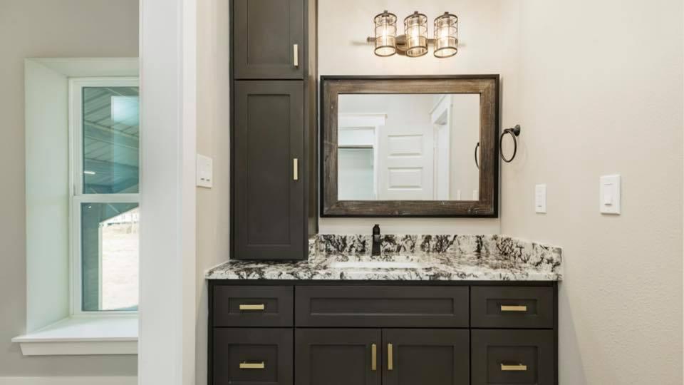 Houston Texas Barndominium Bathroom Vanity