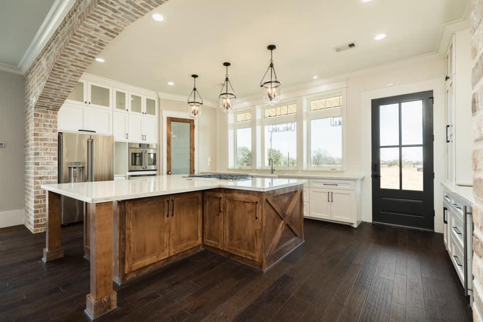 Houston Texas Barndominium Kitchen with Side Exit Door