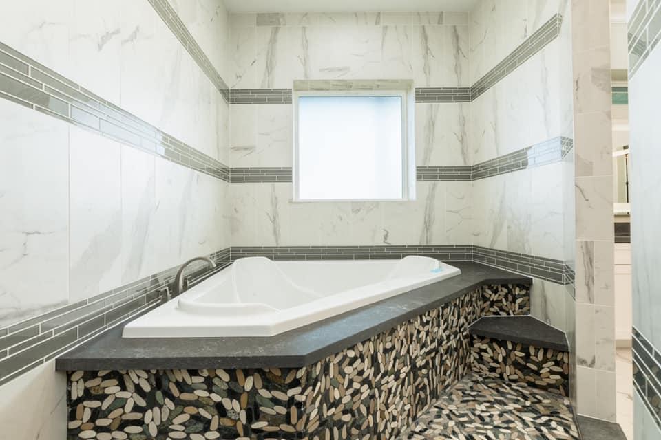Houston Texas Barndominium Master Bathroom Jacuzzi