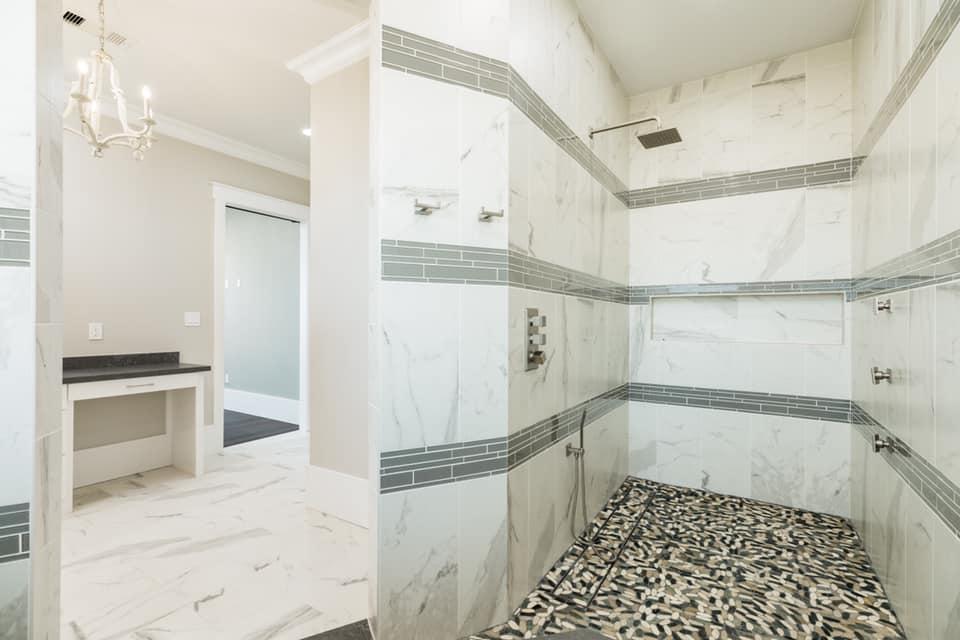 Houston Texas Barndominium Master Bathroom Shower