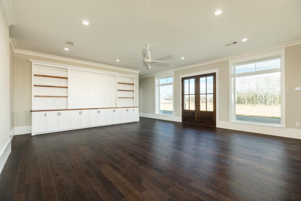 Houston Texas Barndominium Open Concept Living Room and Dining Area