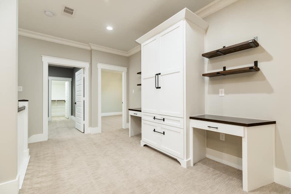 Houston Texas Barndominium Second Hallway Storage