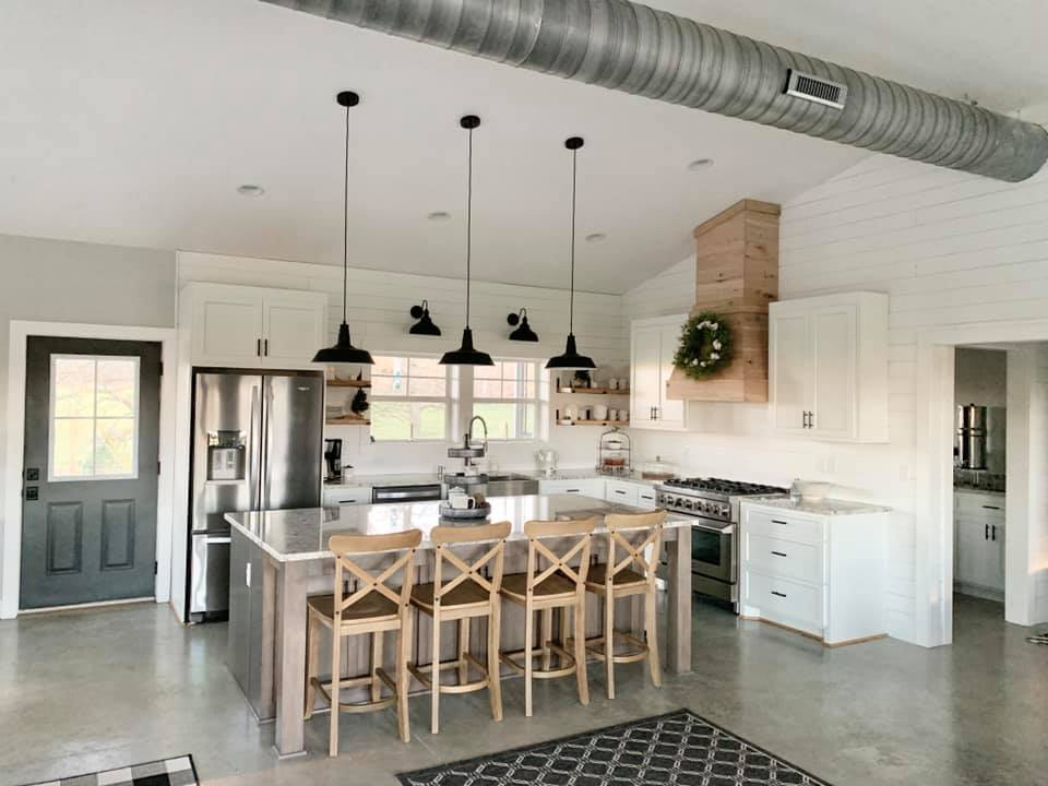 Charlotte NC Barndominium Kitchen Island