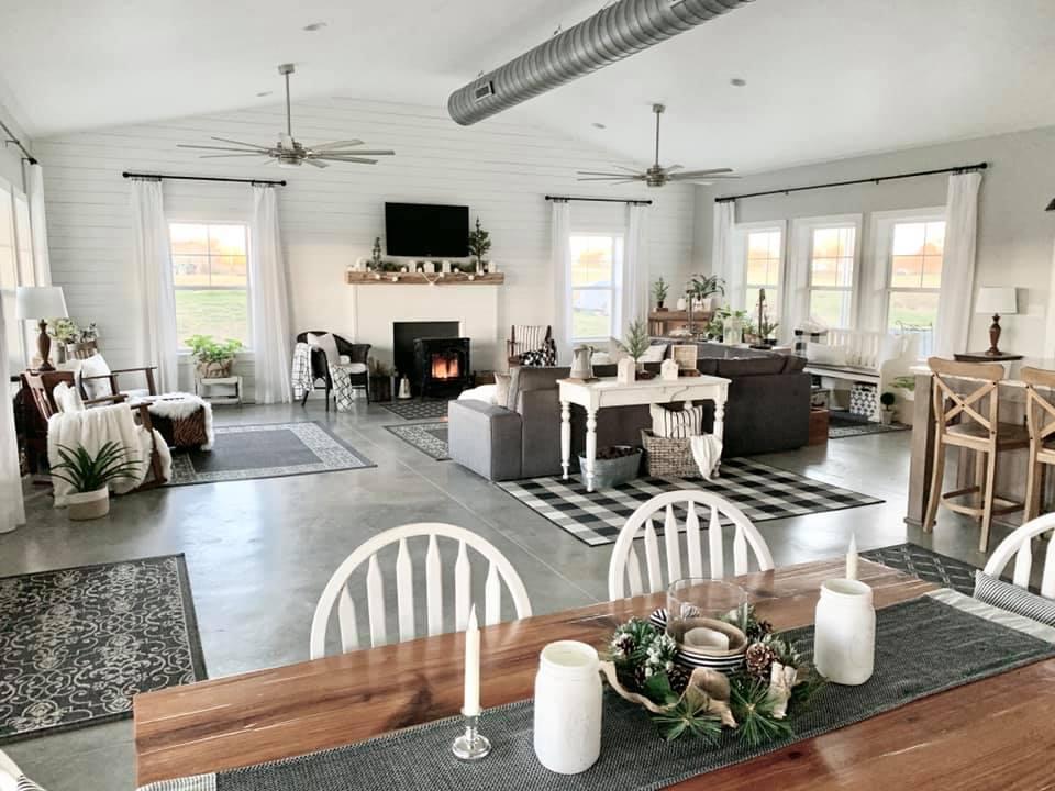 Charlotte NC Barndominium Living Room