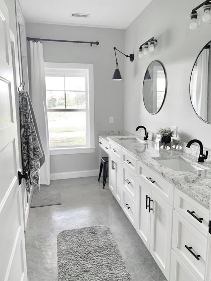 Charlotte NC Barndominium Master Bath