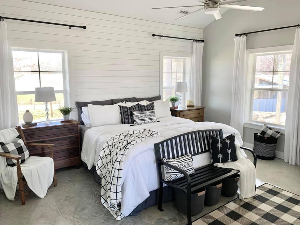 Charlotte NC Barndominium Master Bedroom