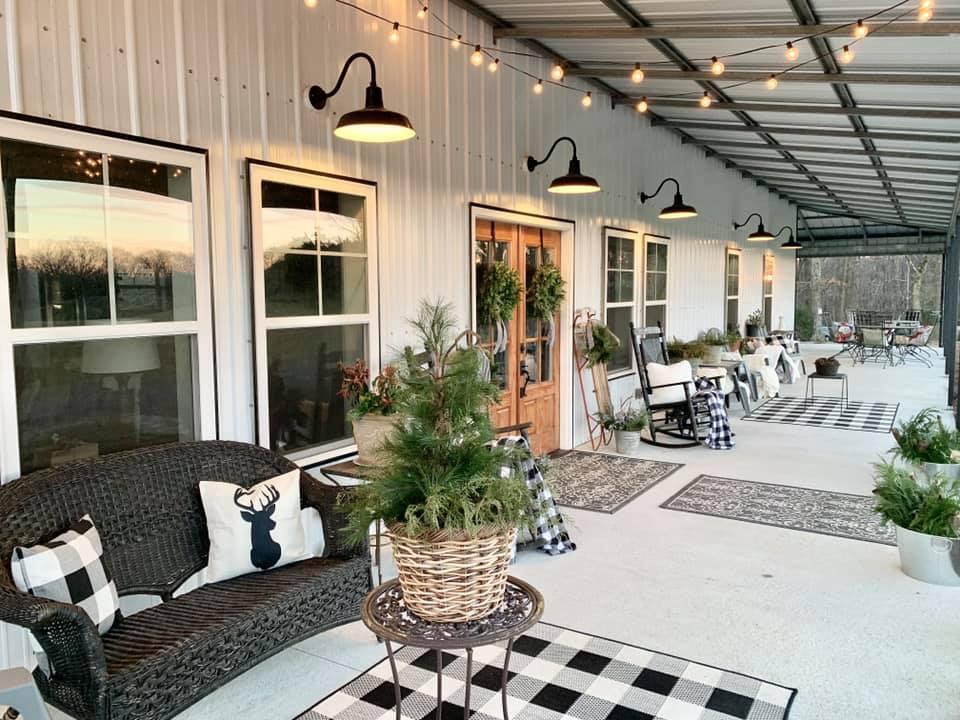 Charlotte NC Barndominium Front Porch