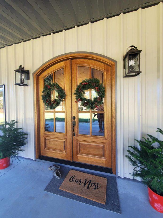 Melissa Hewitt Barndominium Main Entrance Door