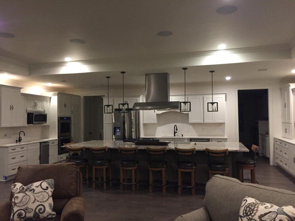 Odom Family Florida Barndominium Kitchen and dining area