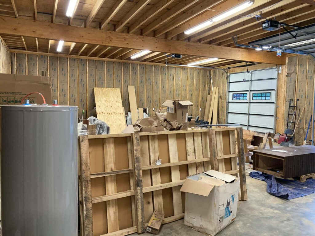 Unfinished garage space