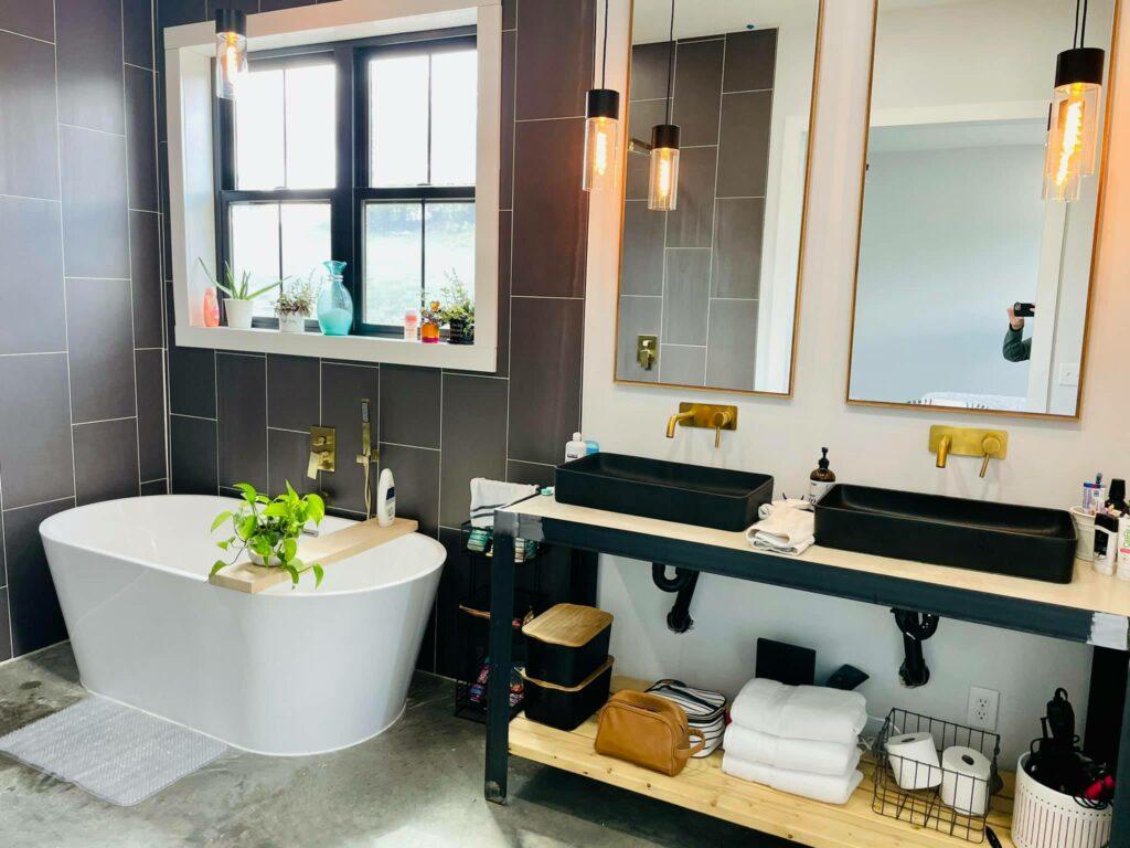 DIY bathroom vanity that steals the show.